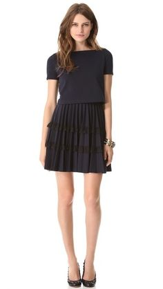 RED Valentino Pleated Dress. $695.00. #fashion #women #dress