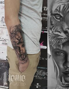 By Dimitris Neme Tattoo Strong as tiger!