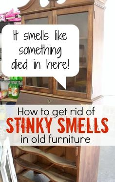 how to get gross smells out of old furniture, cleaning tips, garages, painted furniture #paintedfurniture