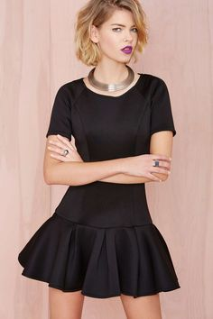 Cute dress for the holidays! Especially with fun tights!