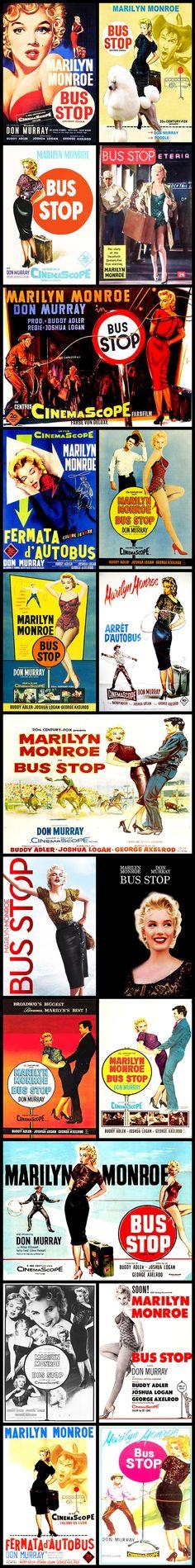 1956, Marilyn Monroe, Movie, Posters, Film, Bus Stop