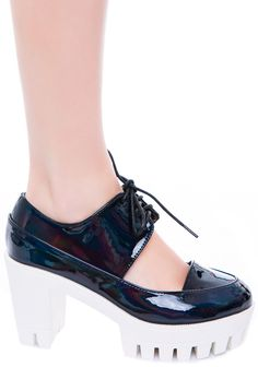 Privileged Paramour Oxford Heel | Dolls Kill -- Just bought these! Aah! I'm so excited! Wish they had the pink ones in stock tho, oh well, yay!