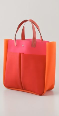Anya Hindmarch  Nevis Tri Colour Rubber Tote