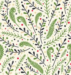 Floral holiday pattern vector on VectorStock nature pattern