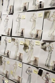 via By Sasha: Fashion Design Studio - inside the Armani atelier - dress sketches; fashion design behind the scenes