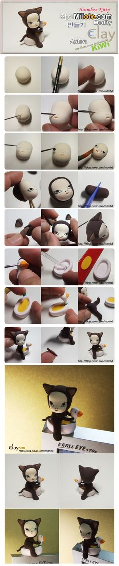 cute clay tutorial // omg this is based off of a painting i had to recreate