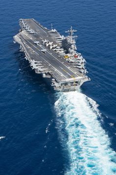 MEDITERRANEAN SEA (Feb. 21, 2017) The aircraft carrier USS George H.W. Bush (CVN 77) transits the Mediterranean Sea in support of Operation Inherent Resolve. (U.S. Navy photo by Mass Communication Specialist 3rd Class Daniel Gaither/Released)