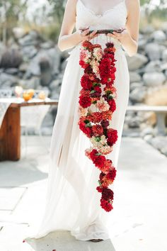 Bohemian wedding florals {stunning!}