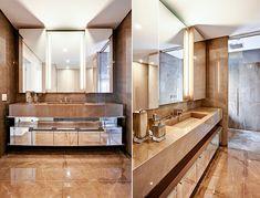 Projeto studio IB Double Vanity, Bathroom Lighting, Mirror, Furniture, Home Decor, Showers, Ceiling, Bathrooms, Log Projects