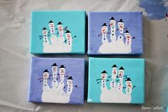 Love this little Christmas craft--snowmen made out of a finger/handprint... will have to think of this next year!