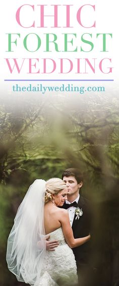 This one is soooo pretty! View the full wedding here: http://thedailywedding.com/2016/03/23/chic-mountain-forest-wedding-jenny-sean/