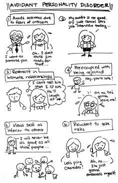 Avoidant Personality Disorder | With these cute little sketches, there's no need to ask for examples :P