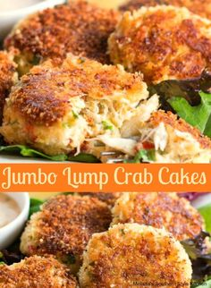 jumbo cakes lump crab Jumbo Lump Crab CakesYou can find Crab cake recipe and more on our website Crab Cake Recipes, Fish Recipes, Seafood Recipes, Appetizer Recipes, Dinner Recipes, Cooking Recipes, Healthy Recipes, Crab Cakes Recipe Best, Lump Crab Meat Recipes