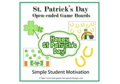 Free Open Ended Game Boards for St.Patrick's Day