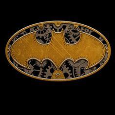 Steampunk Batman logo