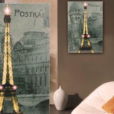LED Leucht Bild Restaurant Cafe Leinwand Lifestyle Licht Eiffel Turm Frankreich | eBay