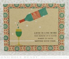 Better With Time Card by Nichole Heady for Papertrey Ink (November 2014)