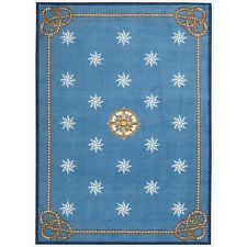 Nourison Shoreline Blue Rug Rug Size: x Nautical Rugs, Nautical Star, 4x6 Rugs, Polyester Rugs, Carpet Cleaners, Love Blue, Color Blue, Home Decor Store, Home Decor Furniture