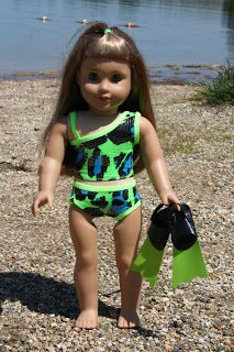 927f0b22aa6 Arts and Crafts for your American Girl Doll: Fins for American Girl Doll  DIY Made of duct tape. Kathleen Jarvis · AG swim suits/coverups
