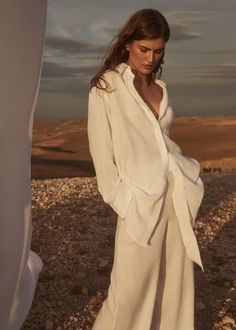 Oversized Shirt Outfit, Oversized White Shirt, White Linen Shirt, White Linen Dresses, White Wide Leg Trousers, Athleisure, Linen Suit, Boyfriend Shirt, Suits For Women