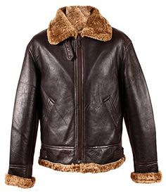 91a012013d1 Men s RAF Aviator B3 Ginger Marino Shearling Sheepskin WW2 Genuine Leather  Bomber Flying Jacket (4XL)  Amazon.co.uk  Clothing