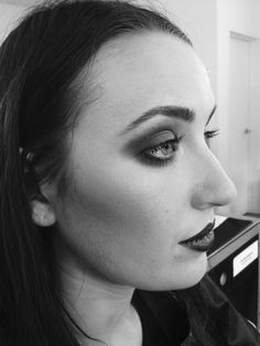 B&W photographic demo - makeup by Janey Umback