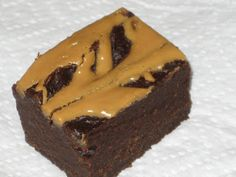 Dr. Oz Brownies- 1 box of brownie mix, 1 (15 oz.) can of pure pumpkin, 3 Tbsp. peanut butter.  Combine the brownie mix and pumpkin in a bowl. It takes a while to mix, and the batter will be very thick, but don't add anything else to it. Spread it in an 8x8 or 9x9 pan. In a small bowl, melt the peanut butter in the microwave (about 30 seconds). Drizzle it on top of the brownie batter. Bake 30-35 minutes at 350 degrees. Let them cool completely before cutting into 24 pieces.