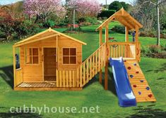 The Kimba Castle #cubbyhouse is great for play and exercise at the same time! Your kids will be tearing outside for the 2-in-1 cubby house and fort! With a rock climbing wall, stairs and a slide! You can buy loads of cubby house accessories too! Price: $2597.00  Size: 4500 x 2400