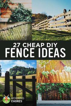27 Cheap DIY Fence Ideas for Garden, Privacy, or Perimeter