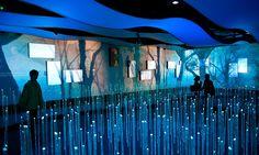 LED Rods from Floor, Dream Cube: 2010 World Expo Shanghai Corporate Pavilion, Shanghai Corporate Community, ESI Design #exhibitiondesign #exhibit #design
