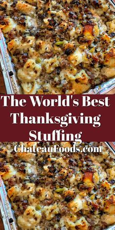This Thanksgiving stuffing will be your new family tradition. Sausage, onion and celery plus delicious bread dumplings make this the perfect holiday stuffing for your turkey or dinner. thanksgiving recipes for Thanksgiving stuffing Best Thanksgiving Recipes, Thanksgiving Stuffing, Thanksgiving Sides, Holiday Recipes, Fall Recipes, Traditional Thanksgiving Recipes, Best Dinner Recipes Ever, Christmas Stuffing, Recipes Dinner