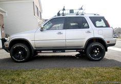 Lifted Honda CRV 1st Gen with roof rack, wheels and tires  #HondaCRV #honda #hondaisbest