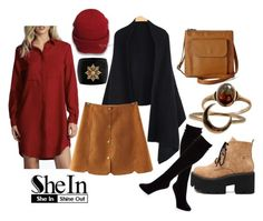 """Just 3 : SheIn"" by vicko-kk ❤ liked on Polyvore featuring Relic, Lulu Frost, Hue, Alexander McQueen and shein"