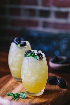 Mango and Blackberry Vodka Cooler by foolproofliving #Cocktails #Mango #Blackberry
