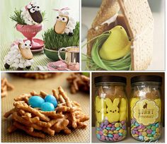 30 Popular Easter Activities and Crafts For Kids - made bunny bar jars Holiday Treats, Holiday Parties, Holiday Fun, Easter Treats, Easter Food, Easter Party, Easter Table, Easter Decor, Easter Snacks
