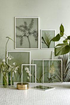Shopping : je veux du vert dans ma déco d'intérieur ! - FrenchyFancy  Botanicals + Collection + Green + Glass + Arrangement