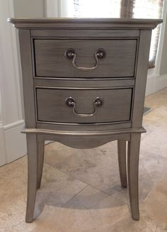 Restoration Hardware Charlotte Silver Patina Small Side Table Night Stand | eBay