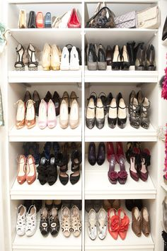 How dreamy is this shoe closet?