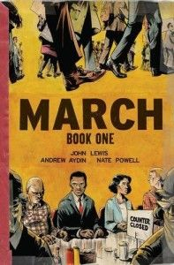 March, Book 1 by John Lewis, Andrew Aydin, and Nate Powell A vivid account of the early days of the Civil Rights Movement. This nonfiction graphic novel is the autobiography of John Lewis, and tells how he became involved in standing up for equal rights. New Books, Good Books, Books To Read, Children's Books, Audio Books, Paperback Books, March John Lewis, Book 1, The Book