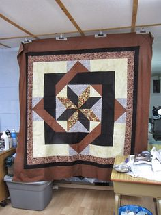 Labyrinth Quilt Pattern Free Thread Wall Hanging For
