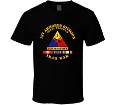 1st Armored Division - OIF w Svc Ribbons T Shirt