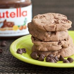 Nutella Shortbread Chocolate Chip Cookies