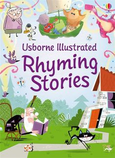 Illustrated rhyming stories A collection of nine rhyming stories that will tickle a child's funny bone. Children will love the weird and wonderful characters from much-loved classics and original tales such as There Was a Crooked Man, The Old Woman Who Lived in a Shoe, and The Dinosaur Who Lost His Roar. A gorgeous gift with delightful illustrations and a ribbon marker.