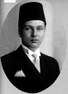The young King Farouk I (1920 - 1965), former king of Egypt, forced to abdicate after years of misrule