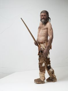 A reconstruction of Otzi the Iceman suggests a man confident in his skin. And in his skins. Credit: South Tyrol Museum of Archaeology.
