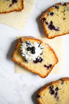 polenta cake with blueberries.