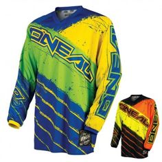 ONeal Youth Element Limited Edition Acid Jersey Yellow//Red, Small