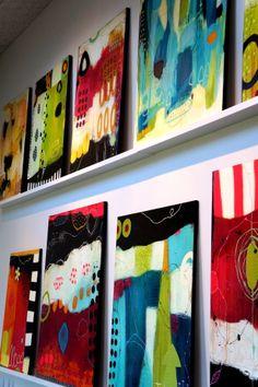 Se Janne Jacobsens malerier i hendes atelier i Brønderslev