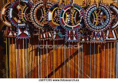 Masai beaded collars for sale. Ethnic Print, Tribal Prints, Safari Chic, African Crafts, Tribal Patterns, Rug Patterns, Beaded Collar, Native Art, Image Photography