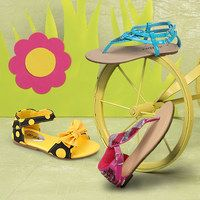 Little girls  Little lovelies with a penchant for pretty footwear are sure to find their sole mate in this fun and frisky collection! Boasting a bevy of stylish sandals and flats, this sunny spread is chock-full of charming shoes as sweet as the feet they'll adorn. From tea party-perfect flats to sparkly rhinestone-embellished flip-flops, these colorful pairs are sure to please.